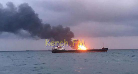 Рятувальники шукають тіла моряків, які загинули у пожежі в Керченській протоці