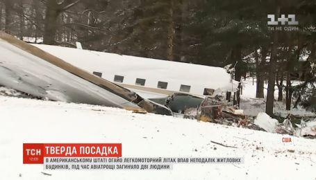 Авиакрушение в США: легкомоторный самолет упал неподалеку жилых домов