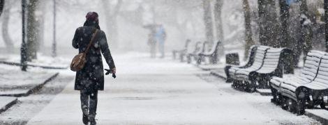 Сильний снігопад і хуртовини: синоптики попередили про негоду у Києві