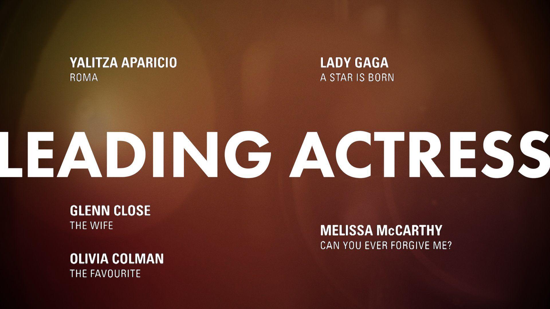 """Номінація """"Найкраща акторка"""" Оскар"""