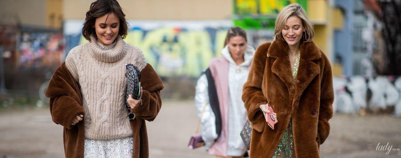 Как носить пальто из плюша