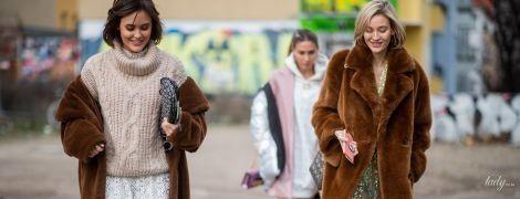 Як носити пальто із плюшу
