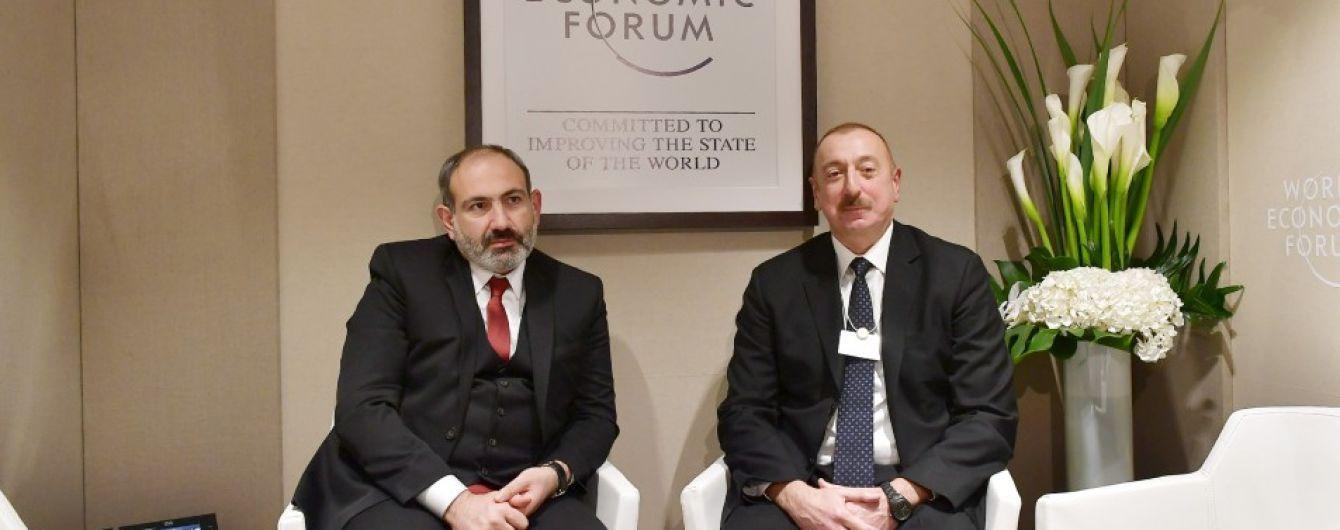 Лидеры Азербайджана и Армении в Давосе обсудили карабахский конфликт