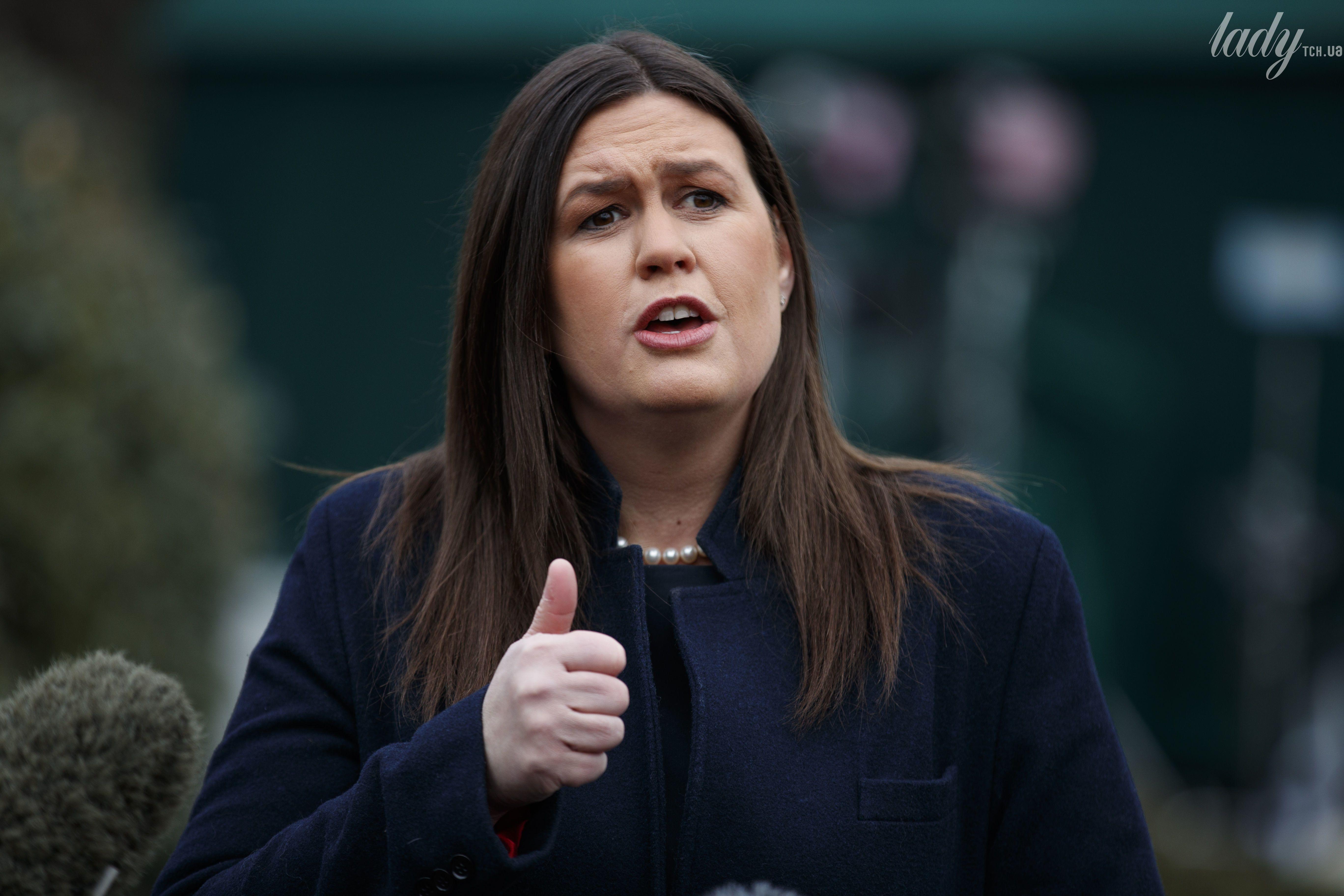 Пресс-секретарь Белого дома США Сара Хакаби Сандерс_1