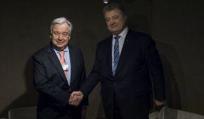 Миротворча місія на Донбасі та агресія РФ: про що Порошенко поспілкувався із генсеком ООН