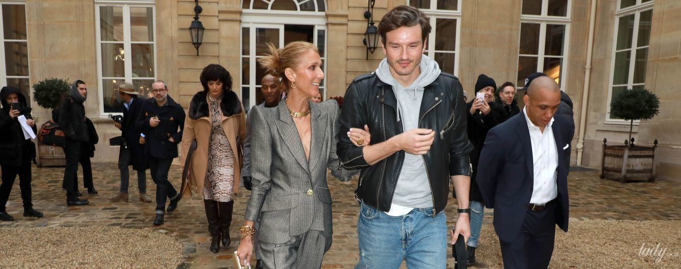 Светит декольте и ходит под руку с любовником: Селин Дион удивляет публику на Парижской неделе моды
