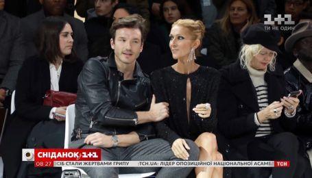 Селин Дион посетила Неделю моды в Париже в компании молодого спутника