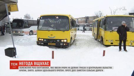 В Винницкой и Кировоградской областях трассы открыты для всех видов транспорта