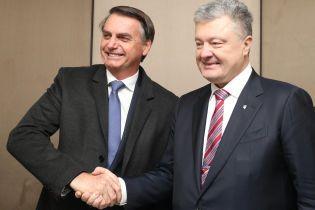 """Порошенко впервые встретился с """"бразильским Трампом"""" и пригласил его в Украину"""