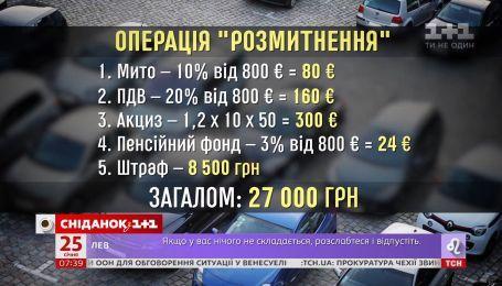 """Сколько на самом деле стоит изменить европейские номера на украинские - эксперимент """"Сніданка"""""""
