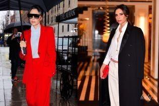 Красный или белый: битва стильных выходов Виктории Бекхэм