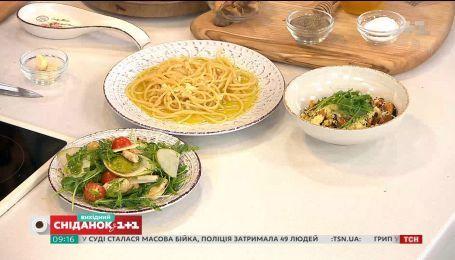 Салат із топінамбуром, паста і кускус з мідіями – три страви за 15 хвилин від Євгена Клопотенка