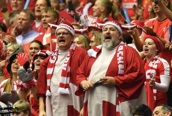 Фанати Данії гандбол