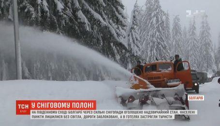 На юго-востоке Болгарии объявлено чрезвычайное положение из-за снегопадов