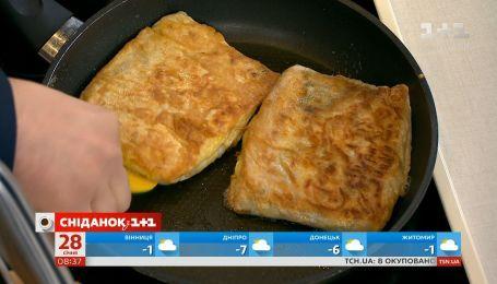 Пироги из лаваша приготовил Руслан Сеничкин на кухне Сніданку