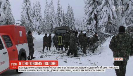 Болгария страдает от мощных снегопадов
