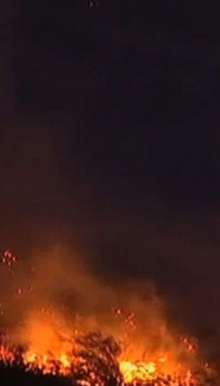 Лісові пожежі охопили пагорби Кейптауна у Південній Африці
