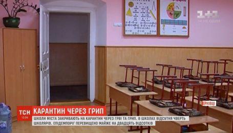 Усі школи Чернівців закрили на карантин через ГРВІ та грип