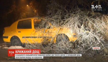 Крижаний дощ та буревії: Румунія потерпає від подвійної стихії