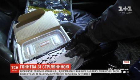 Патрульные устроили погоню за угнанным авто в Ровно