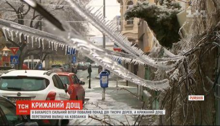Юг Румынии страдает от ураганов и ледяного дождя