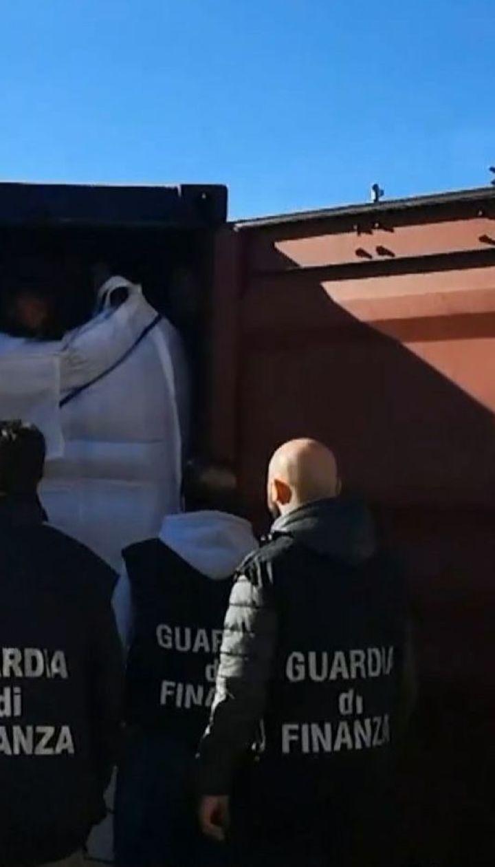 Поліція Італії вилучила кокаїну на 130 мільйонів євро