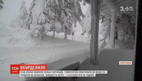 Восток Германии накрыли сильные снегопады, температура опустилась до минус 20