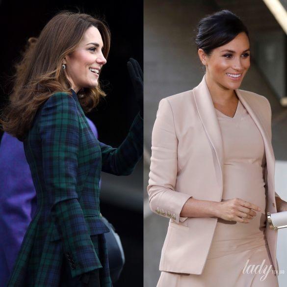 Герцогиня Кембриджская и герцогиня Сассекская