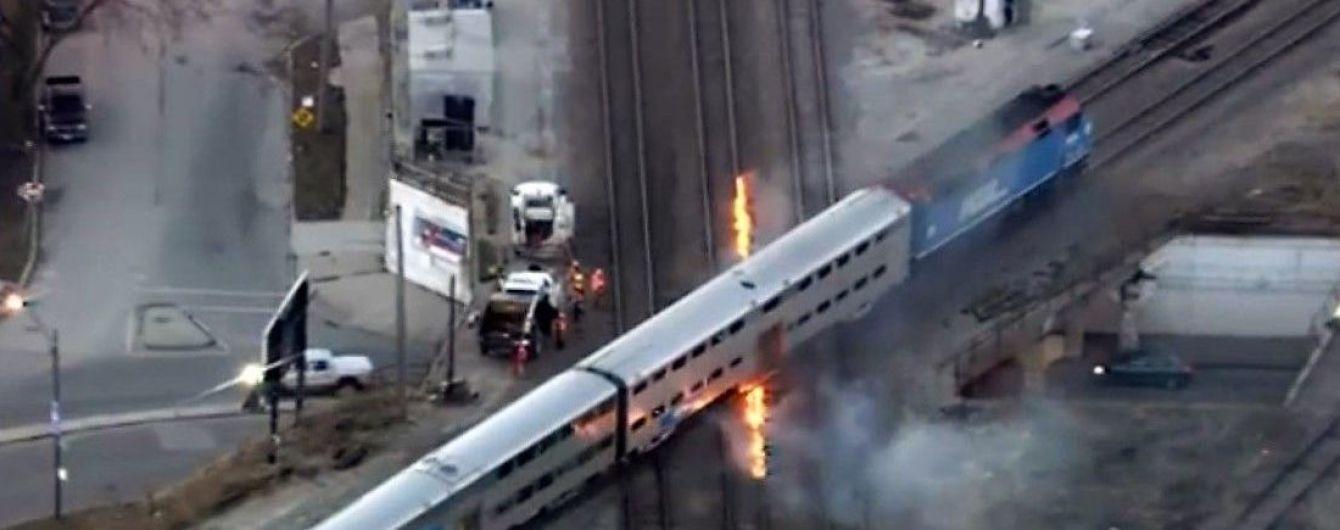 В Чикаго из-за сильного мороза подожгли железнодорожные пути, чтобы они не сломались