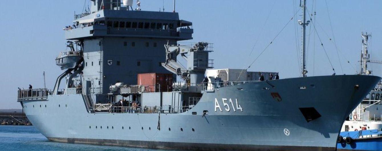 Немецкий военный корабль войдет в Черное море