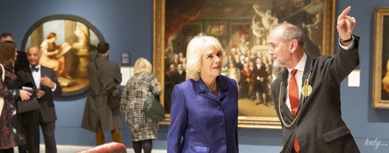 Как всегда, элегантна: герцогиня Корнуольская Камилла посетила Королевскую академию художеств