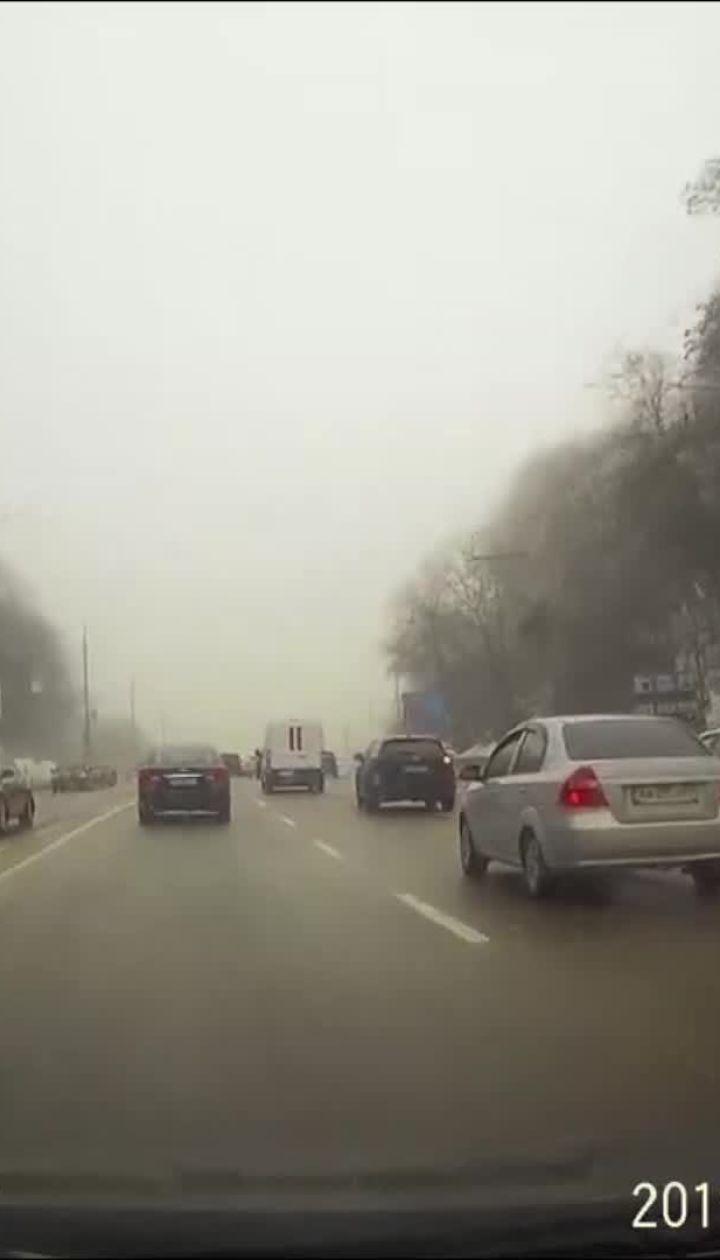 Відео з реєстратора постраждалої у ДТП автівки