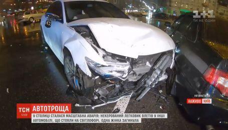 Полиция задержала водителя, который протаранил несколько машин на площади Победы в Киеве