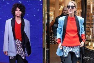 Жаждет внимания: 50-летняя Селин Дион повторила мужской подиумный образ от Calvin Klein