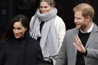 Несмотря на снег и непогоду, счастливые Меган и принц Гарри прибыли в Бристоль