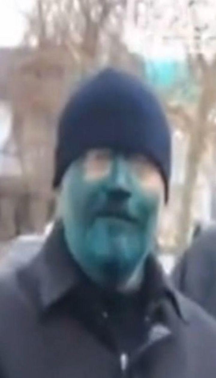 Кандидата в президенти Олександра Вілкула облили зеленкою у Бердянську