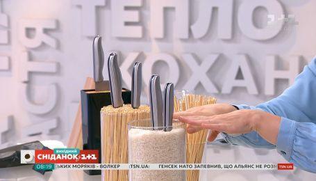Держатель для ножей из крупы и мытьё вазы магнитом - проверка лайфхаков от Ольги Пахар