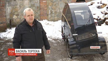 Пенсіонер на Львівщині власноруч сконструював електромобіль