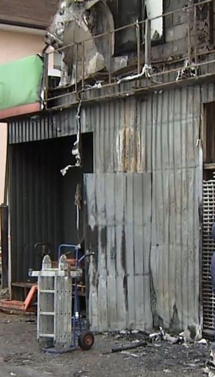 Причиной пожара в супермаркете под Киевом могло стать короткое замыкание проводов