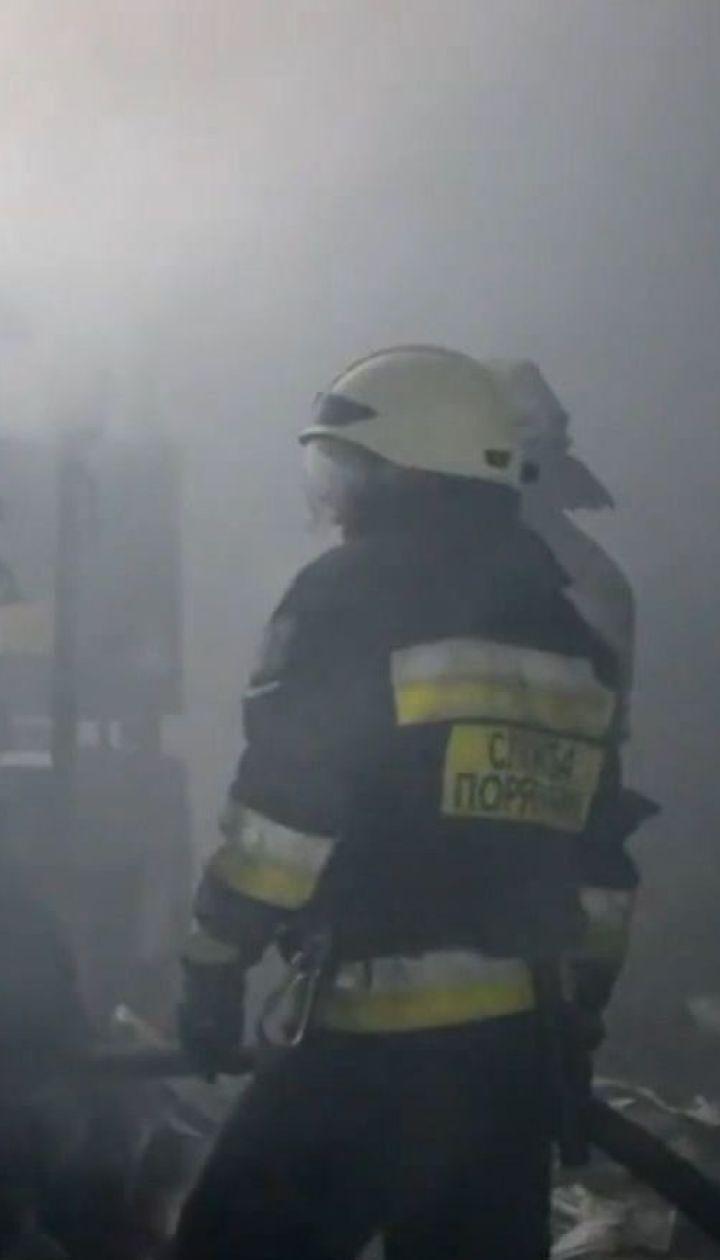 Пожар уничтожил склад алкоголя на окраине Днепра