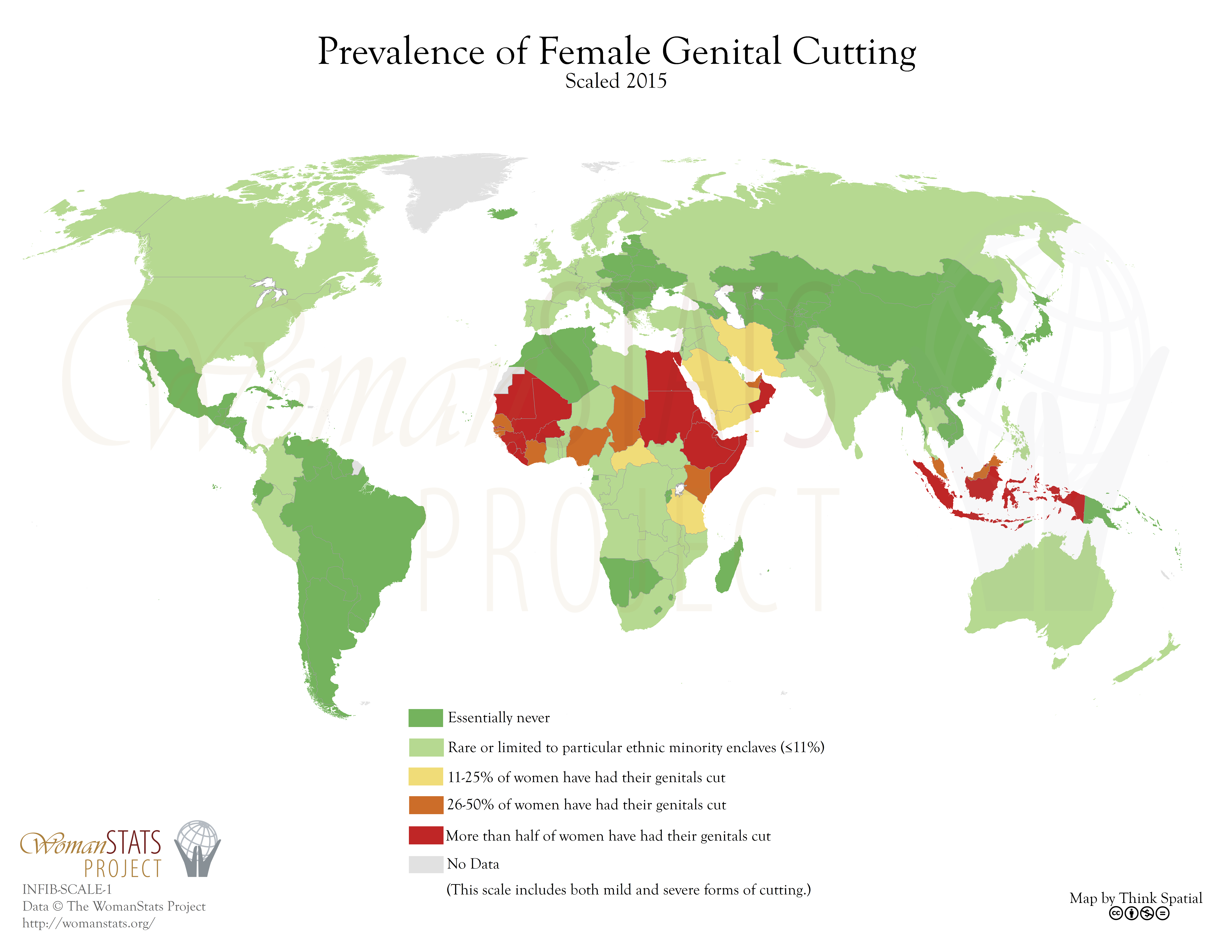 Жіноче обрізання мапа