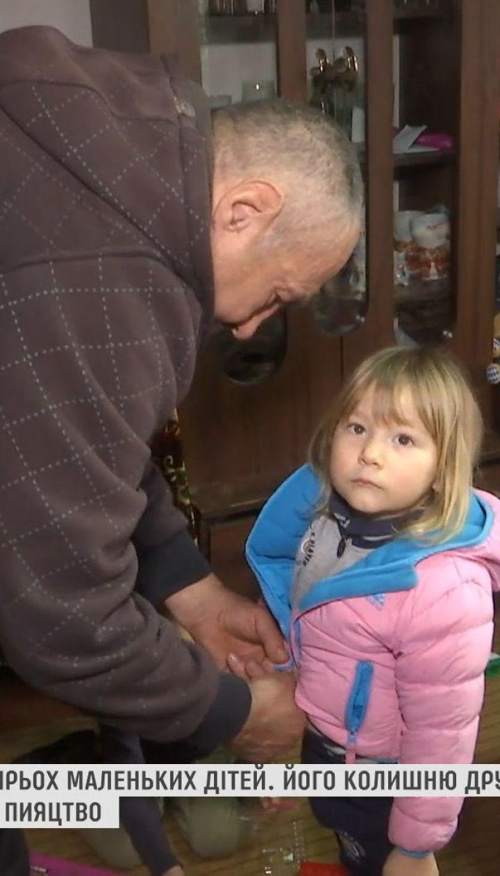 В Винницкой области мужчина сам воспитывает четырех маленьких детей