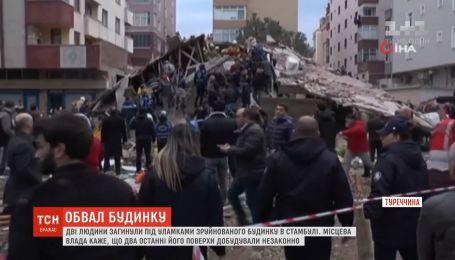 Два человека погибли под завалами жилого дома в Стамбуле