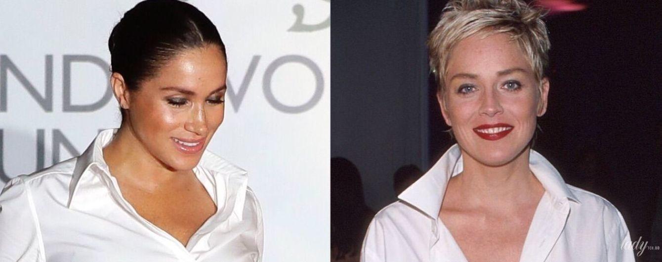 Вдохновилась голливудской звездой: битва образов герцогини Сассекской vs Шерон Стоун