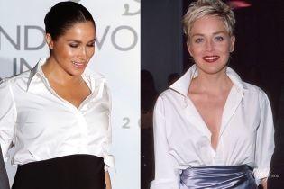 Надихнулася голлівудською зіркою: битва образів герцогині Сассекської vs Шерон Стоун