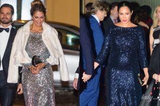 Герцогиня Сассекская vs принцесса Мадлен: битва вечерних образов