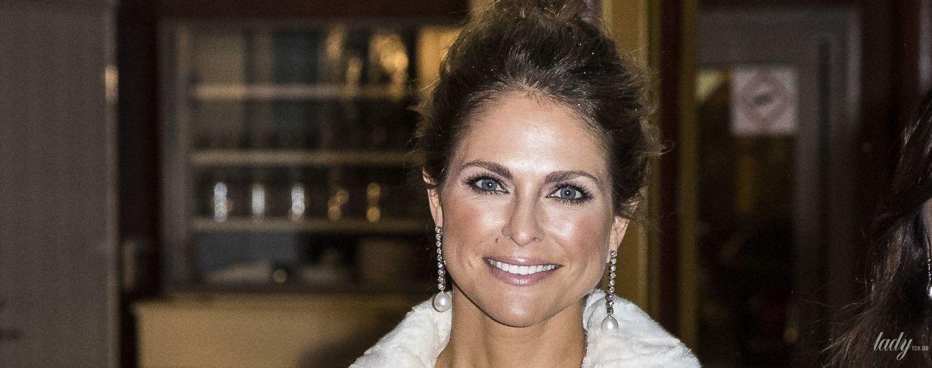 Роскошный выход: принцесса Мадлен в вечернем наряде Roland Mouret на светском приеме