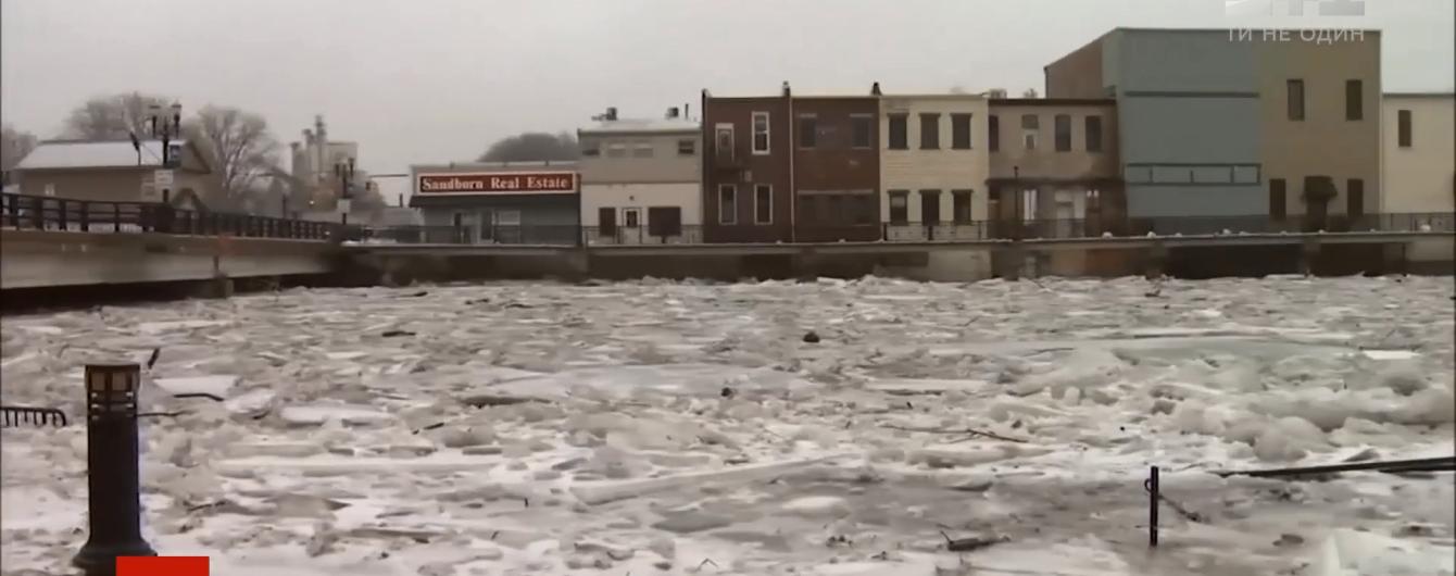 Ледяные заторы: природное явление сковало притоку самой длинной реки в США