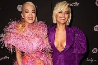 Ріта Ора - в дивній сукні, Бібі Рекса - з декольте: співачки повеселилися на вечірці в Лос-Анджелесі