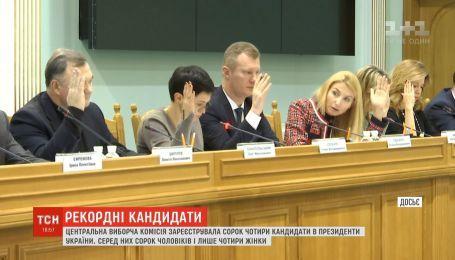 ЦВК зареєструвала 44 кандидати в президенти України